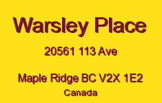 Warsley Place 20561 113 V2X 1E2