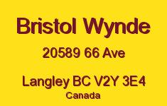 Bristol Wynde 20589 66 V2Y 3E4