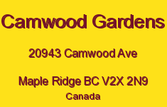 Camwood Gardens 20943 CAMWOOD V2X 2N9