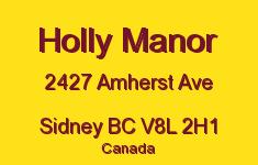 Holly Manor 2427 Amherst V8L 2H1
