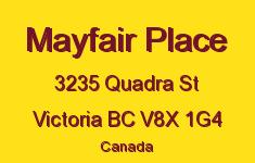 Mayfair Place 3235 Quadra V8X 1G4