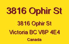 3816 Ophir St 3816 Ophir V8P 4E4