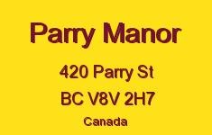 Parry Manor 420 Parry V8V 2H7