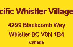 Pan Pacific Whistler Village Centre 4299 BLACKCOMB V0N 1B4
