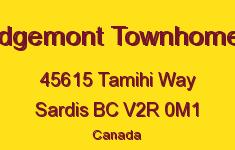 Edgemont Townhomes 45615 TAMIHI V2R 0M1