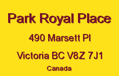 Park Royal Place 490 Marsett V8Z 7J1