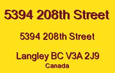 5394 208th Street 5394 208TH V3A 2J9