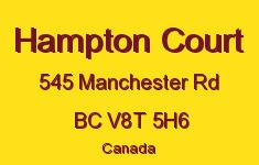 Hampton Court 545 Manchester V8T 5H6