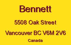 Bennett 5508 OAK V6M 2V6