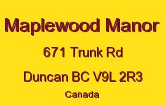 Maplewood Manor 671 Trunk V9L 2R3
