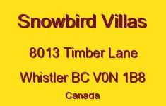 Snowbird Villas 8013 TIMBER V0N 1B8
