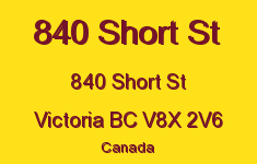 840 Short St 840 Short V8X 2V6