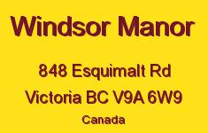 Windsor Manor 848 Esquimalt V9A 6W9