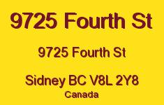9725 Fourth St 9725 Fourth V8L 2Y8