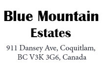 Blue Mountain Estates 911 DANSEY V3K 3G6