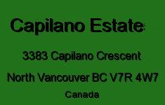The Capilano Estate 3383 CAPILANO V7R 4W7