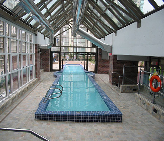 Outdoor Swimming Pool With Glass Roof!