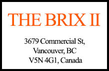 The Brix II 3679 Commercial V5N 4G1