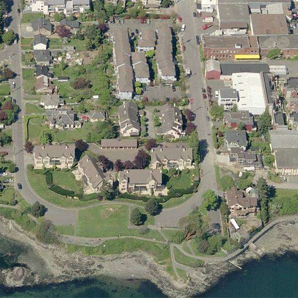 Careenage Quay - 216 Russell St, Victoria, BC - Birds eye view!