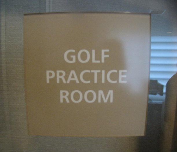 Golf Practice Room!