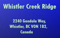 Whistler Creek Ridge 2240 GONDOLA V0N 1B2