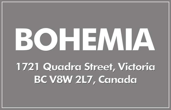 The Bohemia 1721 Quadra V8W 2L7