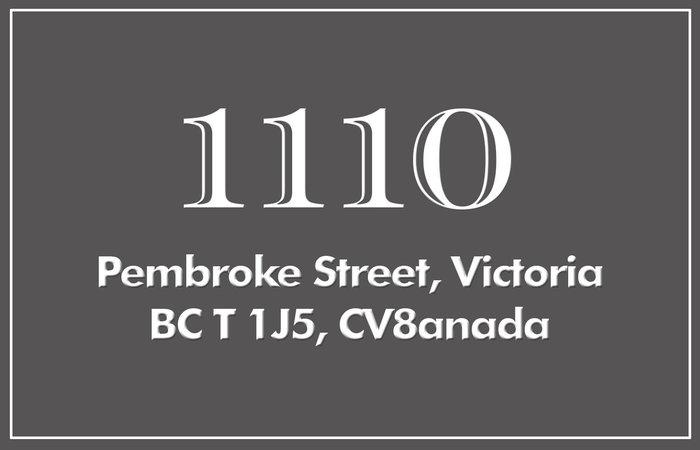 1110 Pembroke 1110 Pembroke V8T 1J5