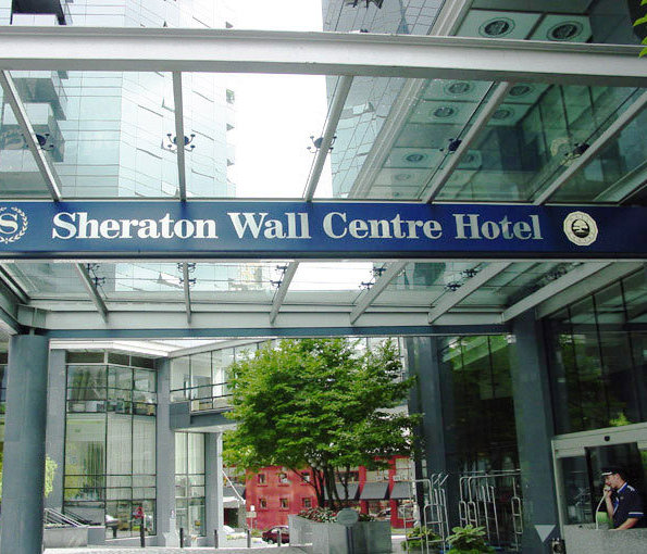 Sheraton Wall Centre Hotel!