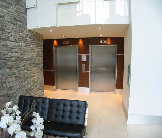 Lobby Elevators and Sitting Area!