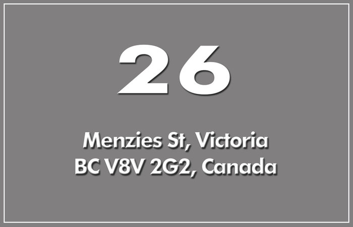 26 Menzies 26 Menzies V8V 2G2