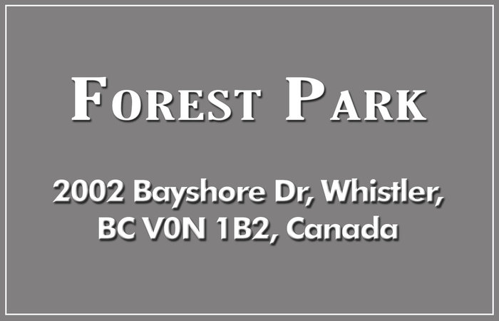 Forest Park 2002 BAYSHORE V0N 1B2