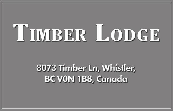 Timber Lodge 8073 TIMBER V0N 1B8