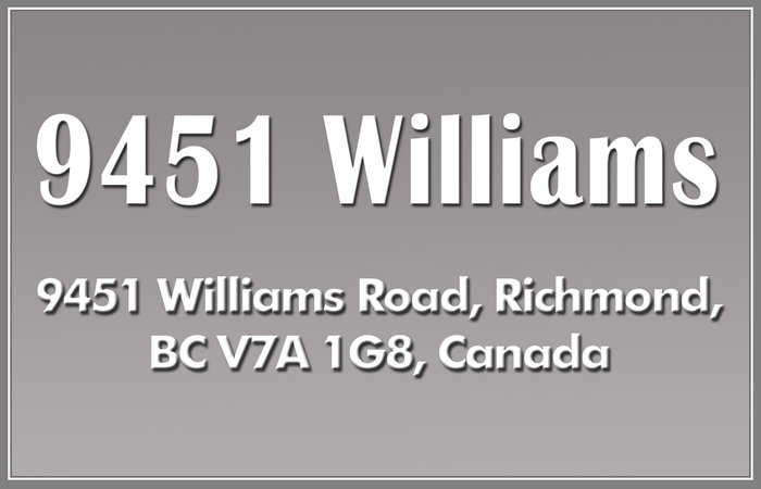 9451 Williams 9451 WILLIAMS V7A 1G8