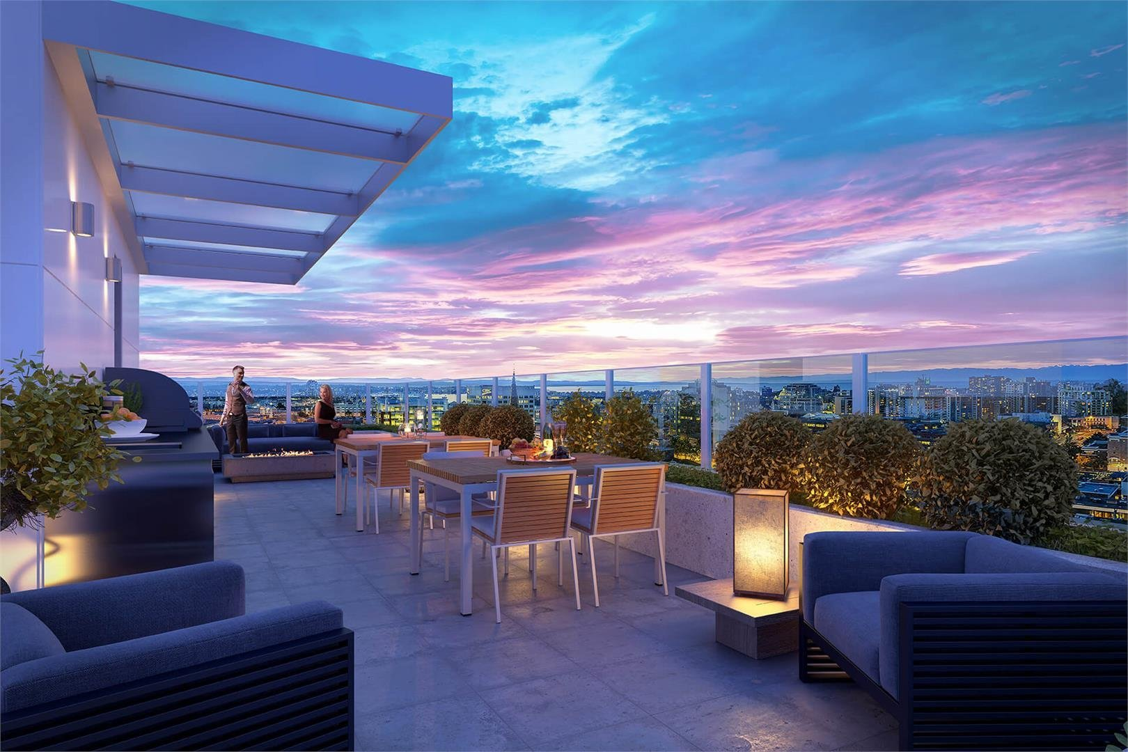 The Yates on Yates Display Rooftop Terrace!