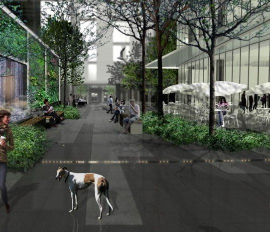 One Burrard Place Courtyard!