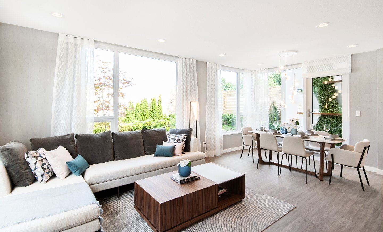 Living Area - 3699 Sexsmith Rd, Richmond, BC V0V 0V0, Canada!