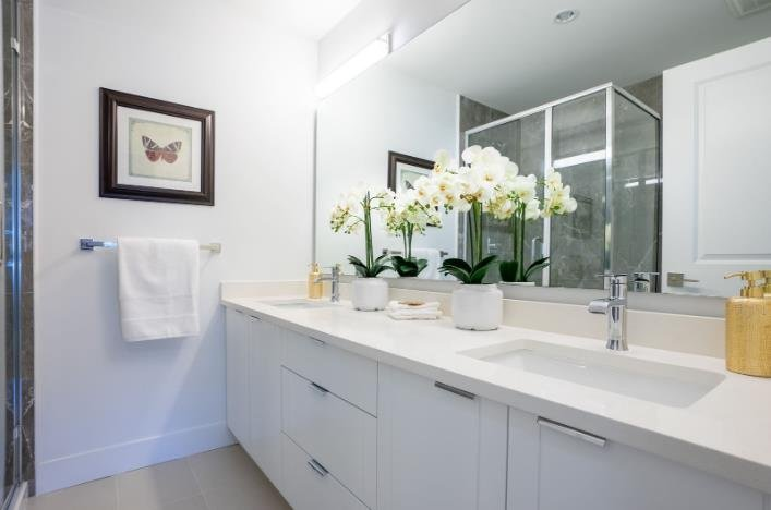 Chalet Townhomes - 11528 84A Avenue, Delta - Display Bathroom!