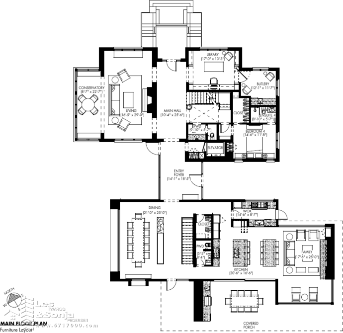 1233 Techumseh Main Flr Plan
